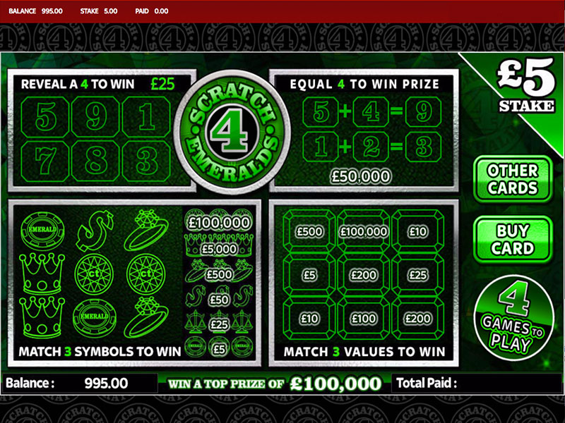 Play Some of The Best Scratch Cards Online